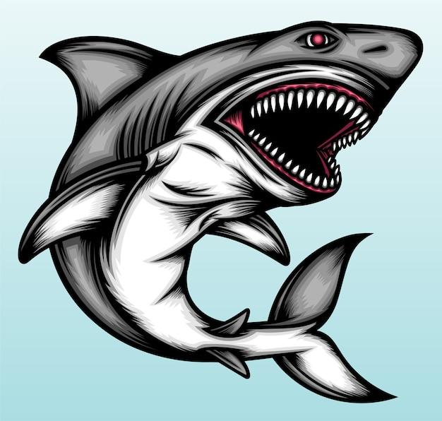 サメの魚のイラスト。