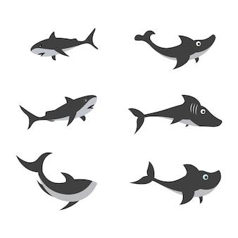 Акула иллюстрации значок дизайн