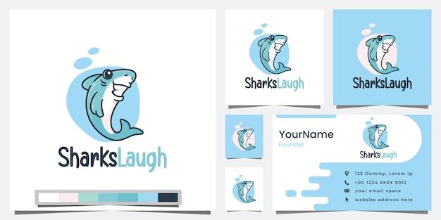 Shark laugh, cartoon version, logo design inspiration