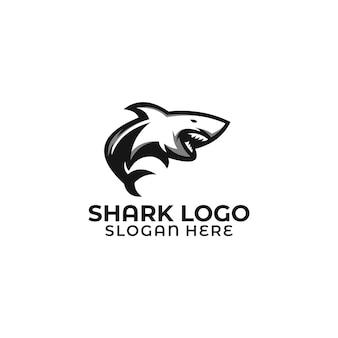 サメのロゴのテンプレート