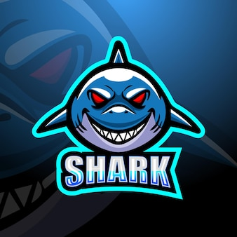 Shark mascot esport illustration