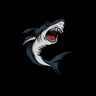 Shark mascot illustration