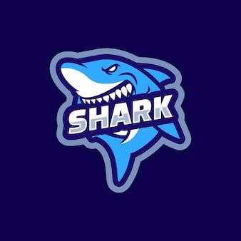Дизайн логотипа талисмана акулы