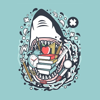 Shark School Cartoon