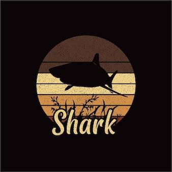 Логотип силуэта акулы