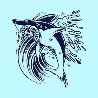 Скелет акулы