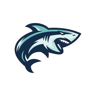 Акула - векторная иллюстрация значок талисман