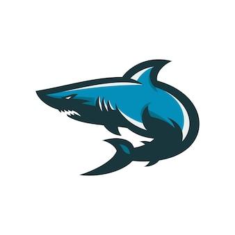 サメ - ベクトルロゴ/アイコンイラストマスコット