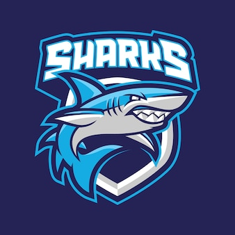 サメのマスコットogoコンセプト