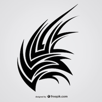 Sharp tribal editable tattoo