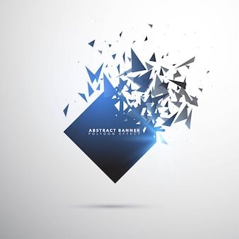 Shatter explosion banner template