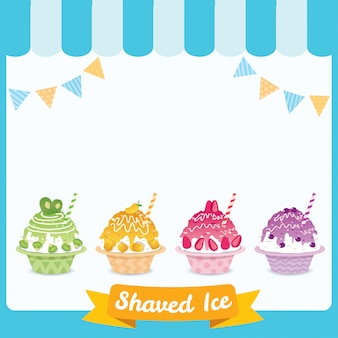 Shaved ice background