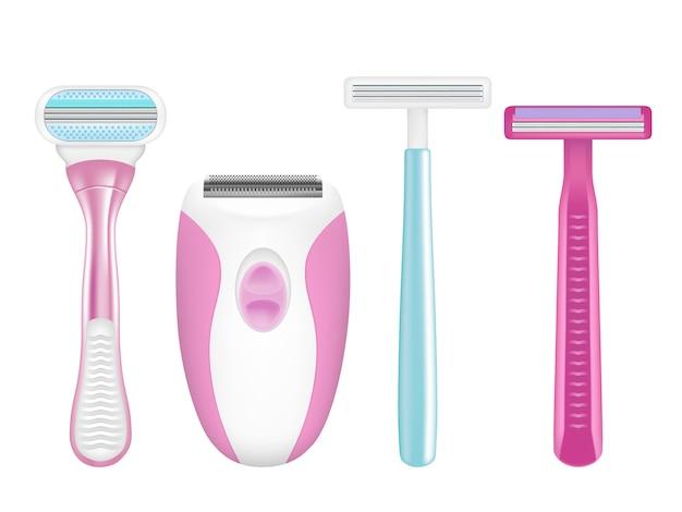 Набор для бритья, реалистичные иллюстрации