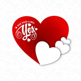 She said a big yes typographic card vector
