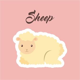 Sheep animal icon