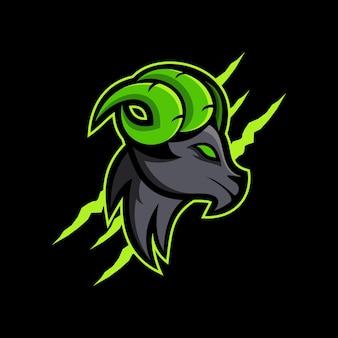 양 동물 마스코트 로고 esport 로고 팀 스톡 이미지