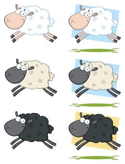 Овцы талисман мультфильма