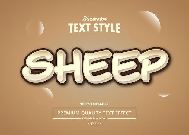 Sheep editable text effect