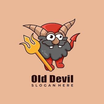 Овца призрак талисман характер дизайн логотипа векторная иллюстрация