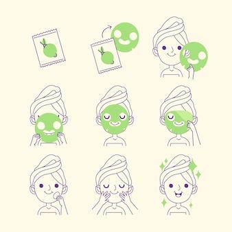 シートマスクの手順