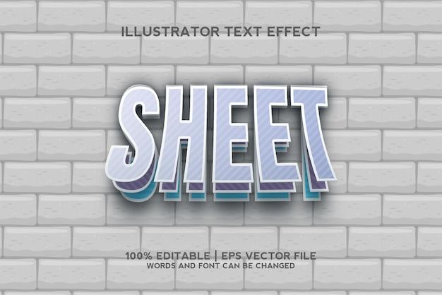 Шаблон текстового эффекта листовой бумаги