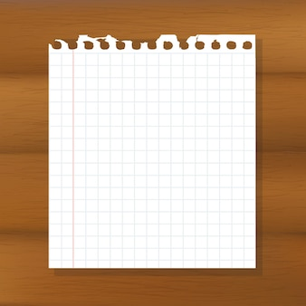 Sheet of paper on wooden background,