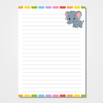 Шаблон листа. линованной бумаги.