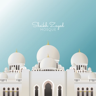 Sheikh zayed grand mosque, suitable for ramadan & eid greeting