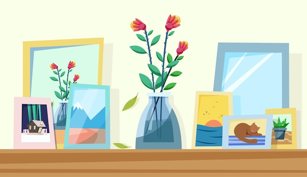 Shelf with pleasant memories within