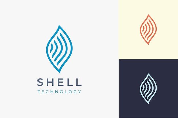 テクノロジー業界のブランドアイデンティティのためのシェルネットワークロゴ