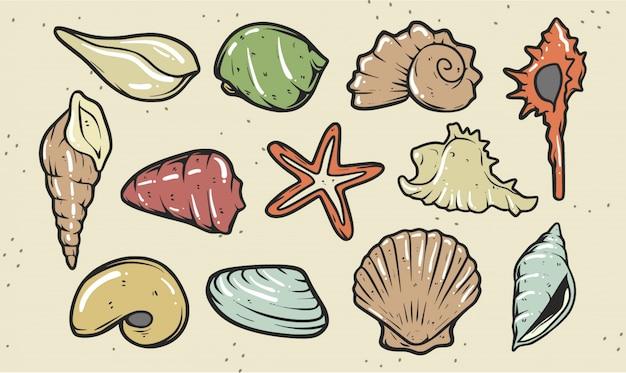 Набор иллюстрации shell premium