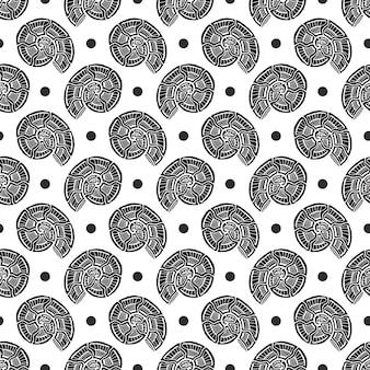 Shells seamless pattern. nautical