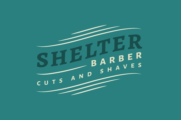 Shelter barber logo and badge templates