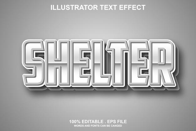 Текстовый эффект убежища редактируемый