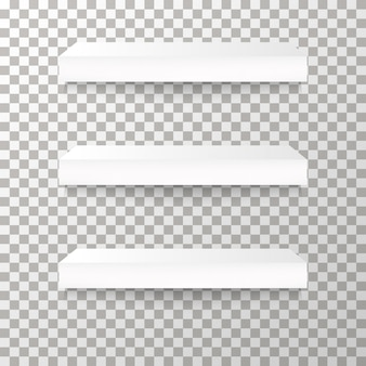 Shelves on the transparent background vector.