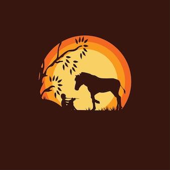 Иллюстрация пастушьей лошади