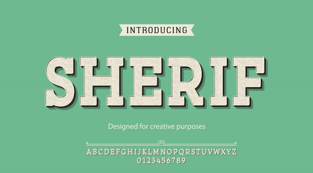 Sherif typeface. for creative purposes