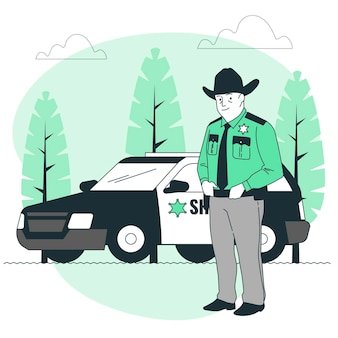 Illustrazione del concetto di sceriffo