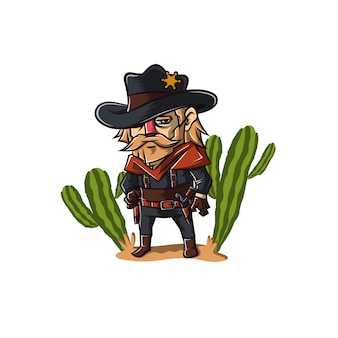 Sheriff cowboy character