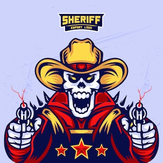Sheriff's skull esport logo design