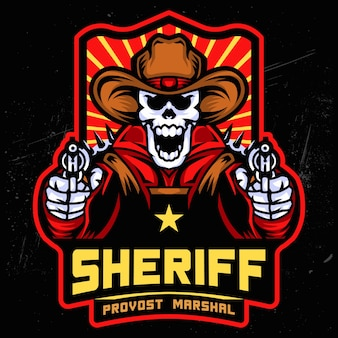 Логотип sheriff skull esports