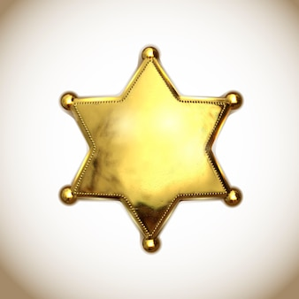 Sheriff star icon.