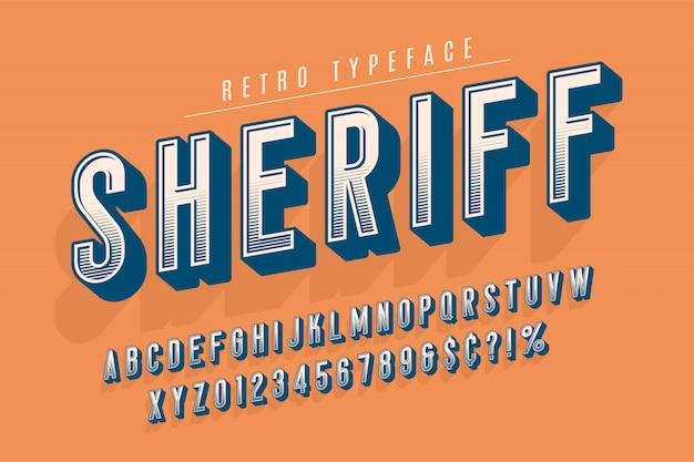 Шериф модный винтажный дизайн шрифта дисплея