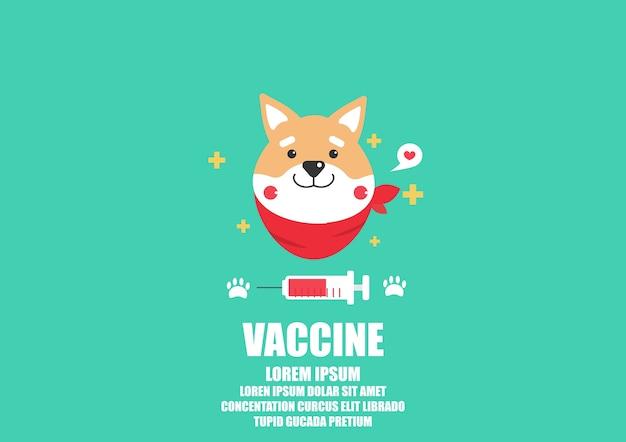 Shiba inu dog cartoon vector