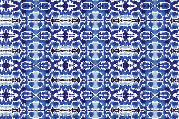 Shibori seamless pattern watercolor
