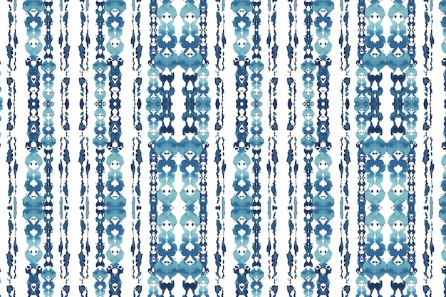 Shibori traditional pattern watercolor