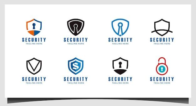 Щит абстрактный символ вектора дизайна логотипа безопасности