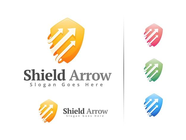 シールド矢印ロゴデザインテンプレート