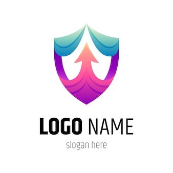 Shield and arrow logo template