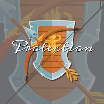 Shield and arrow